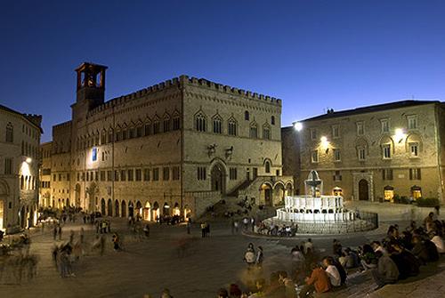 Nächtliches Perugia