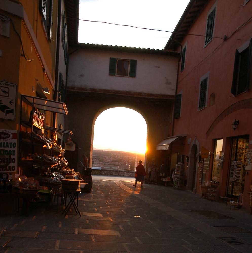 Sonnenuntergang in Castiglione del Lago