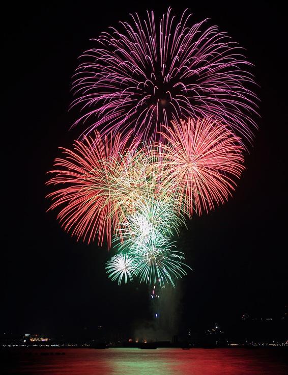 Feuerwerk am Lago Trasimeno